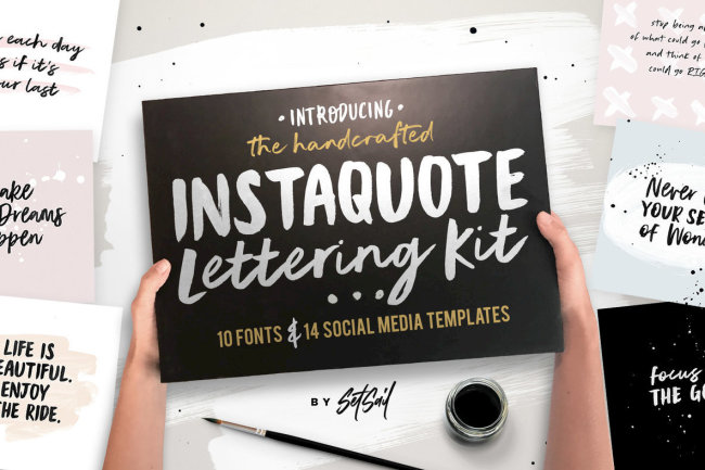 Create Simply Beautiful Social Media Imagery With Instaquote Lettering Kit