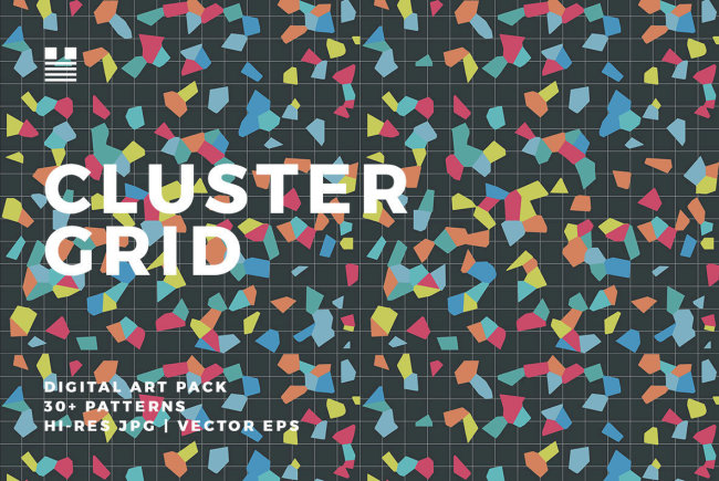 A Confetti-Filled Digital Art Pack: Cluster Grid From Hello Mart