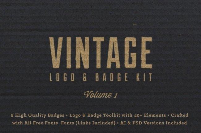 Vintage Logo Badge Kit Vol. 1 From RetroSupply Co.
