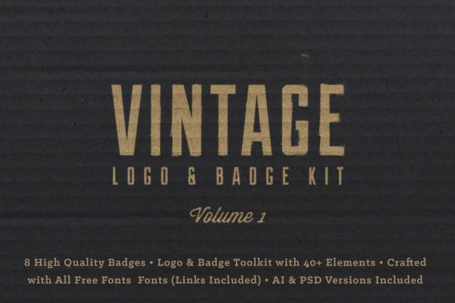 Vintage Logo Badge Kit Vol. 1 From RetroSupply Co.