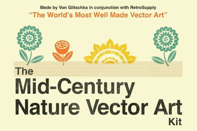 A Vector Jedi Delivers The Mid-Century Nature Vector Art Kit