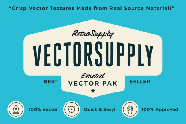 VectorSupply Premium Retro Vector Textures from RetroSupply Co.