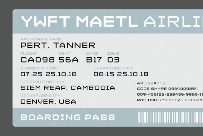 A Hand-Drawn Bitmap Letter Set: YWFT Maetl