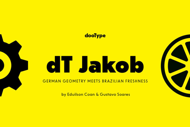 A Geometric Sans Serif With A Human Touch: dT Jakob From dooType
