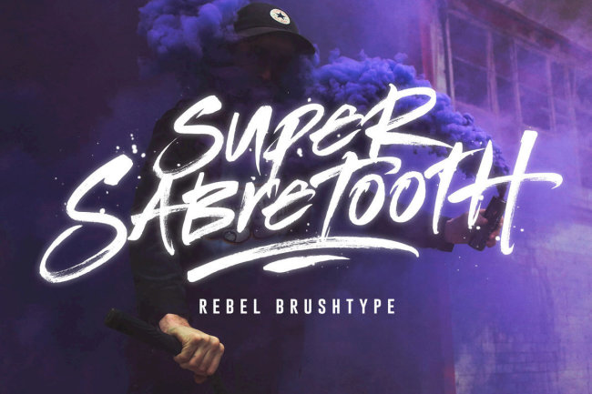 A Rebellious Brush Script That Packs A Punch: Super Sabretooth