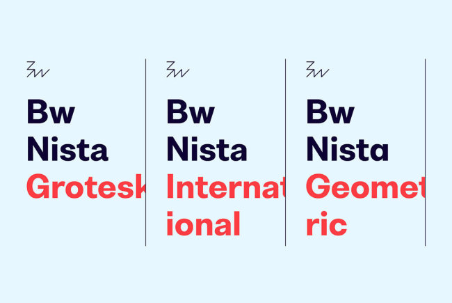 A Neutral Sans Serif From Branding With Type: Bw Nista