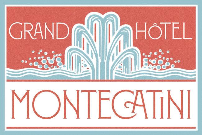 An Elegant Art Nouveau Type Design From Louise Fili: Montecatini