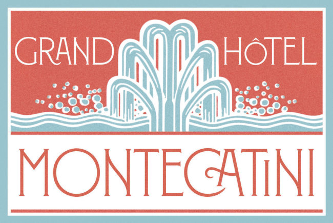 An Elegant Art Nouveau Type Design From Louise Fili: Montecatini