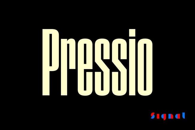 An Intense Sans Serif From Signal: Pressio