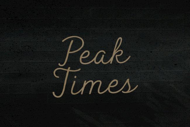 A Nostalgic Cursive Script From BLKBK: Peak Times