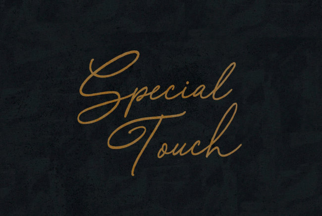 An Old School Handwritten Script From BLKBK: Special Touch