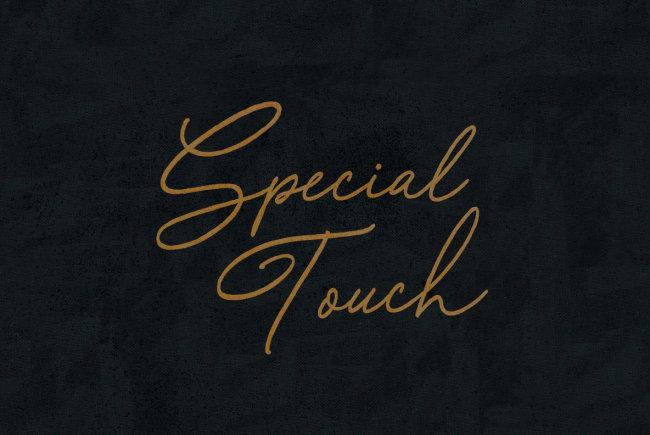 An Old School Handwritten Script From BLKBK: Special Touch