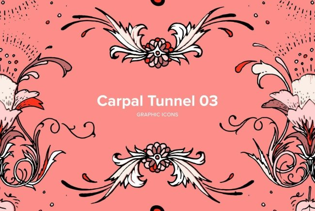 Hand-Drawn Ornaments and Inky Flourishes: Carpal Tunnel 03