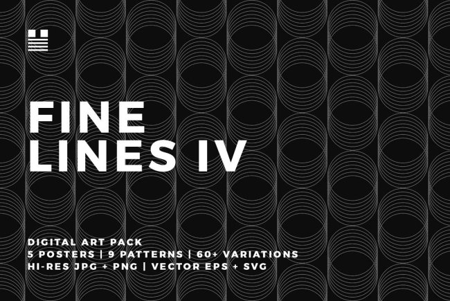 A Digital Art Pack With Geometric Flair: Fine Lines IV