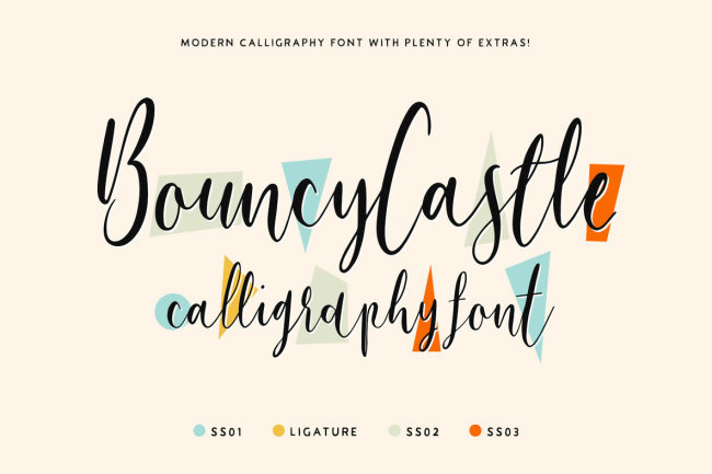 A Playful, Feminine Script From Tom Chalky: Bouncy Castle