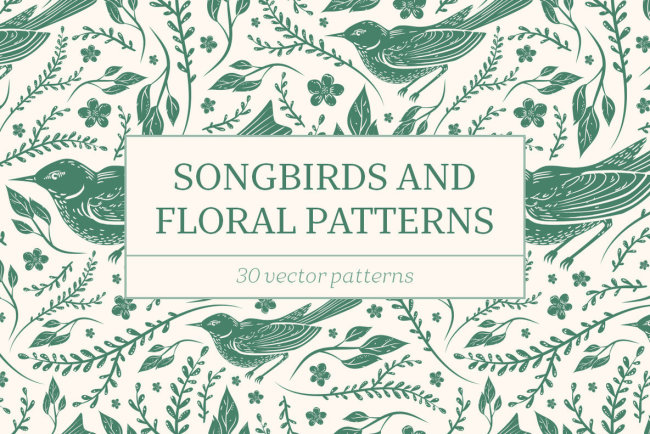 Songbirds and Floral Patterns Explores The Natural World Through Vintage Illustrations