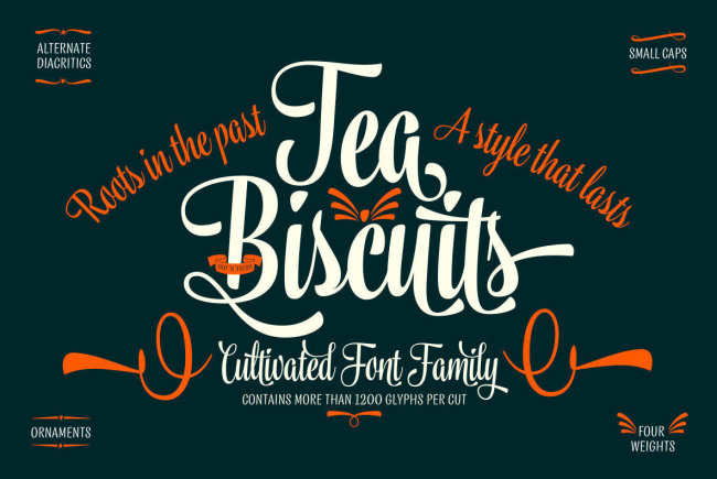 Tea Biscuit: A Modernized Midcentury Script From Emil Bertell
