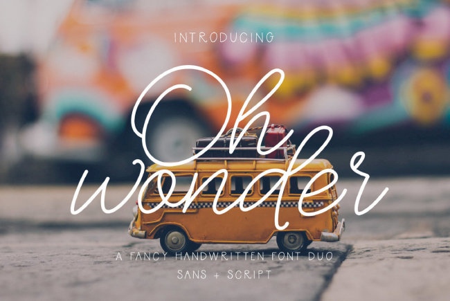 A Spirited Sans And Script Duo From The Ink Affair: Oh Wonder