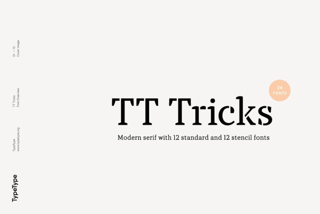 Newsletter Feature: Download 24 New Fonts by TypeType for $40