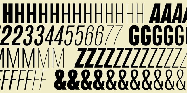 Naratif Condensed Offers Classic Sans Serif Style