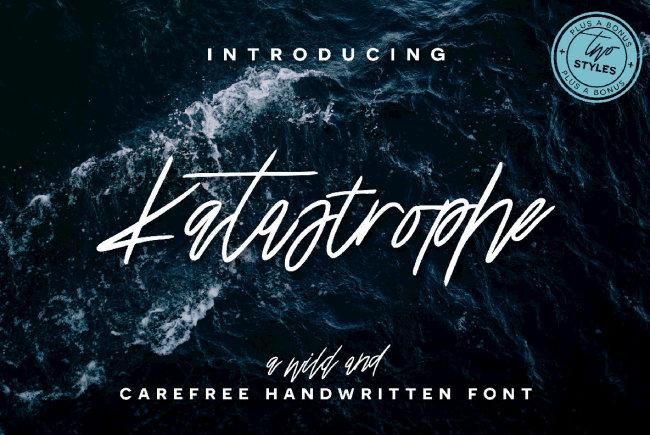 A Passionately Handwritten Signature Script: Katastrophe