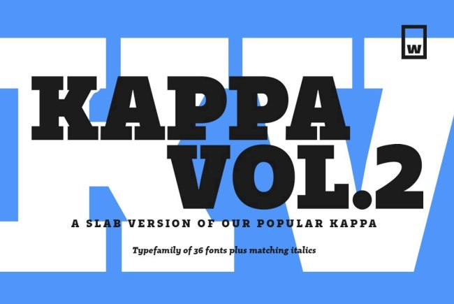 A Contemporary And Condensed Slab Serif: Kappa Vol.2
