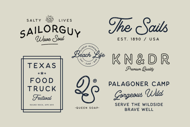 An Organic, Vintage Script And Sans: Thistails Font Duo