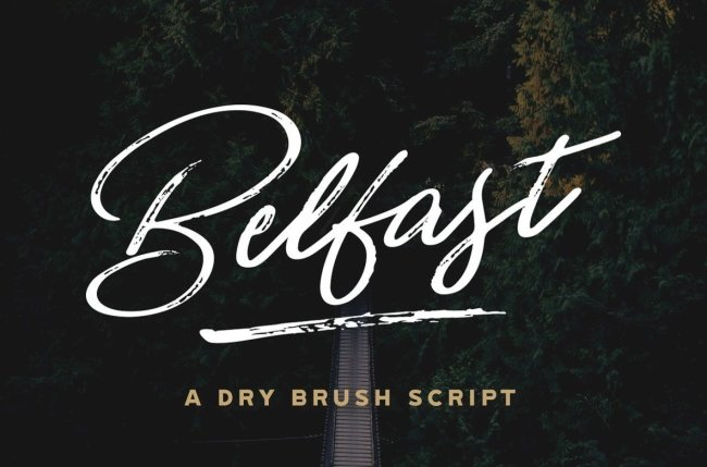 Signature-Style Handwriting With Belfast – A Dry Brush Script