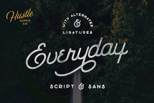 The Everyday Font Duo Pairs A Vintage-Inspired Script And Sans