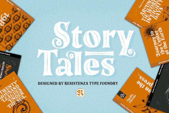 Story Tales: A Whimsical Handmade Display Type From Resistenza