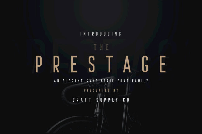 An All-Caps Condensed Sans Serif With Style: Prestage