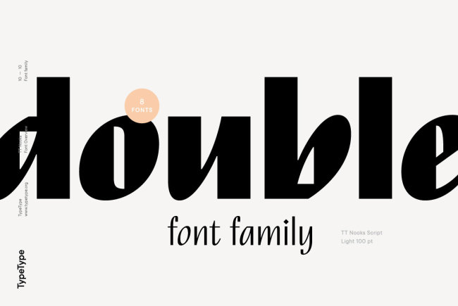 TT Nooks: An Experimental Font Family From TypeType Foundry