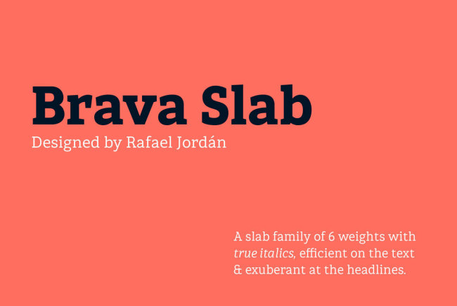 Brava Slab: A Slab Serif With Warmth And Personality