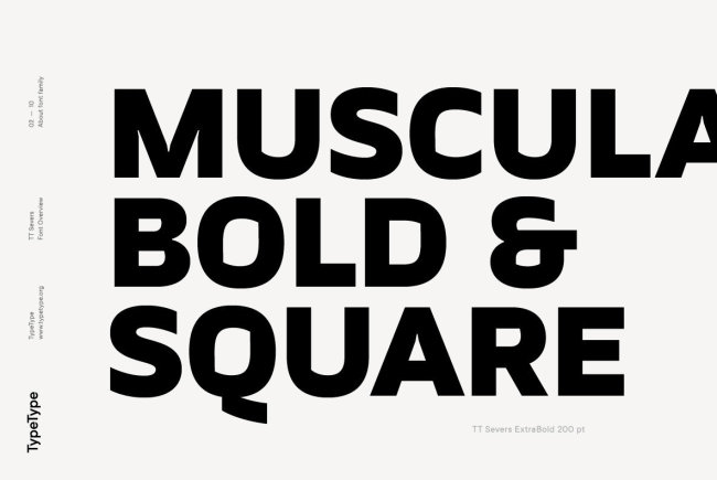 A Geometric Grotesque Sans Serif With A Twist: TT Severs