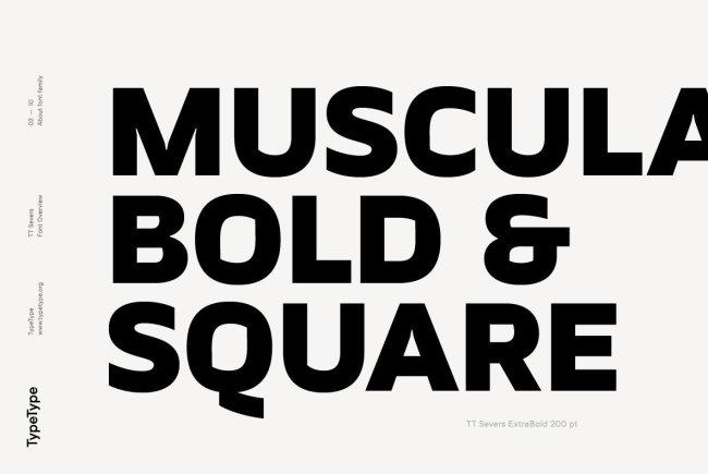 A Geometric Grotesque Sans Serif With A Twist: TT Severs