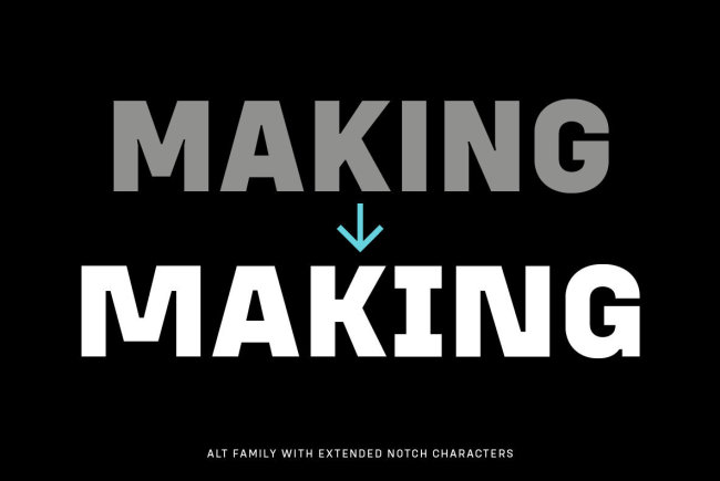 A New Condensed Geometric Sans Serif From Adam Ladd: Config