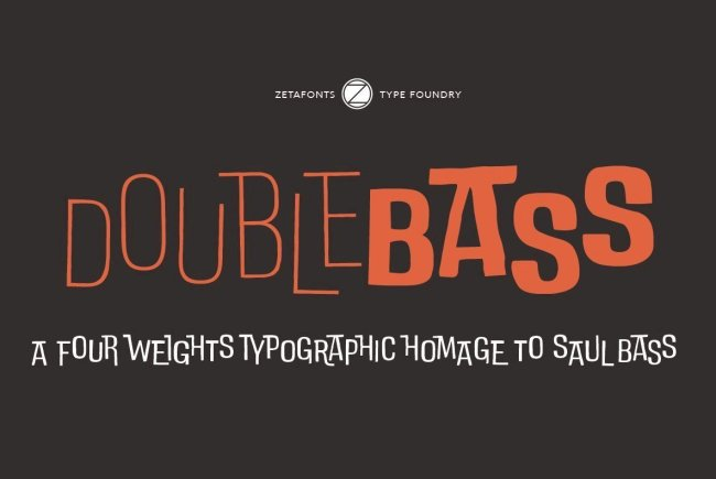 Create A Jazzy, Visual Rhythm With DoubleBass From Zetafonts