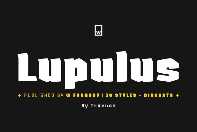A Contemporary Gothic Display Type From W Type Foundry: Lupulus