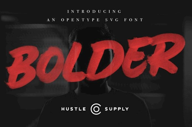 Achieve Hyper Realistic Texture With Bolder SVG Brush Font