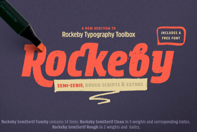 Rockeby SemiSerif: A Collection Of Handwritten Semi Serif Brush Scripts