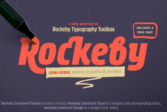 Rockeby SemiSerif: A Collection Of Handwritten Semi Serif Brush Scripts
