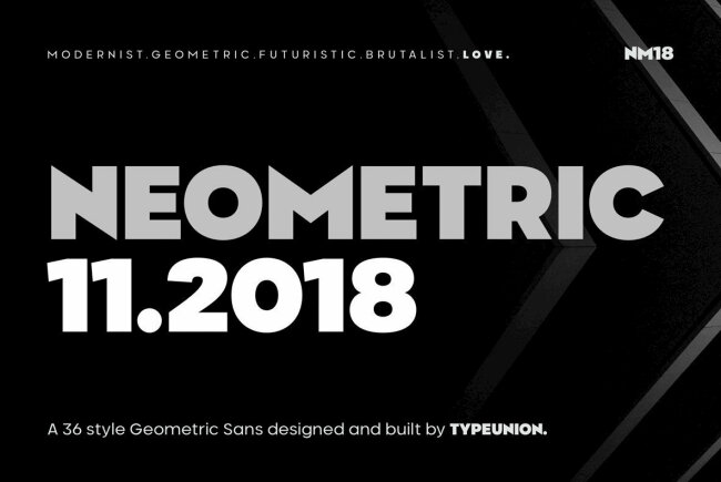 Neometric: A Strong Contemporary Sans Serif Superfamily From TypeUnion