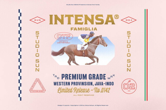 Intensa: A Multifaceted Display Font Family Inspired By Auto Racing