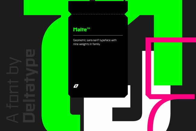 A Modern Geometric Sans Serif With A Futuristic Edge: Malte From Deltatype