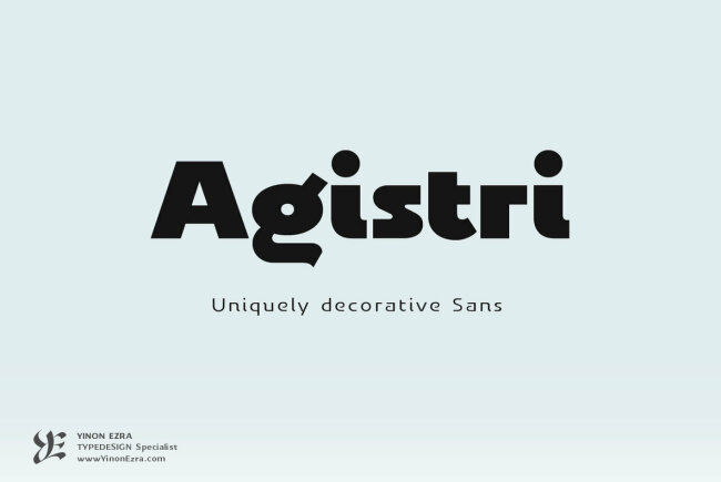 YE Agistri: A Uniquely Decorative Sans From Yinon Ezra