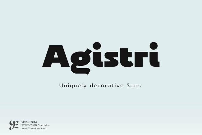YE Agistri: A Uniquely Decorative Sans From Yinon Ezra