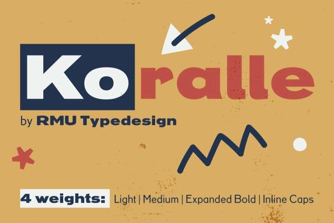 RMU Koralle Revives Four Variants Of A Beloved Classic Sans Serif Design