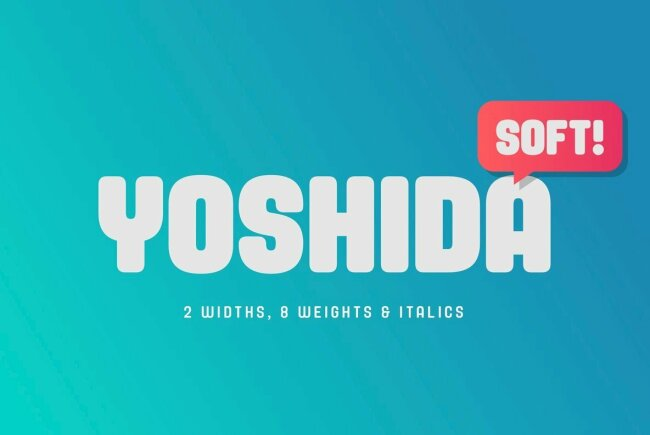 Yoshida Soft: A Bubbly Sans Serif From TypeUnion