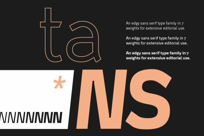 Tans: An Edgy Sans Serif From New Typographer Fabian Dornhecker