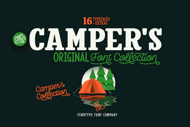 A Cohesive Font Collection From Emil Bertell: Camper